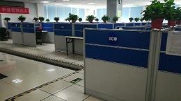中国移动西安分公司600x600HPL防静电活动地板更换项目